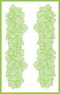 Abstract Shapes Green Bookmark
