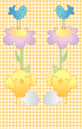 Bird Flower Yellow Gingham Bookmark