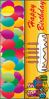 Birthday Bookmark with Cake