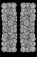 Black White Circles Bookmark