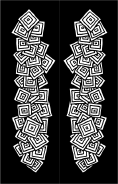 Black White Squares Bookmark
