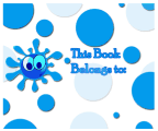 Blue Bubble Bookplates