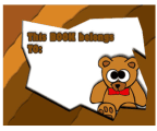 Brown Teddy Bear Bookplates