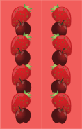 Cherries Strawberries Pink Bookmark