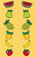 Colorful Fruit Yellow Bookmark