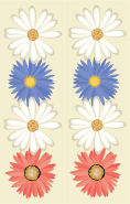 Flowers Beige Bookmark
