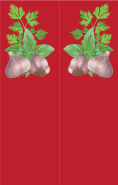 Garlic Red Bookmark