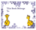 Giraffe Bookplates