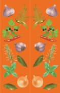 Herbs Orange Bookmark
