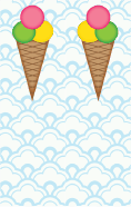 Ice Cream Cone Blue Bookmark