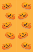 Orange Jack-o-Lanterns Bookmark