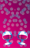 Pink Brandy Snifters Bookmark