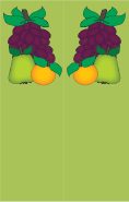 Pear Orange Grapes Green Bookmark
