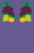 Pear Orange Grapes Purple Bookmark