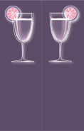 Purple Cocktail Bookmark