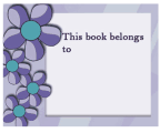 Purple Flower Bookplates
