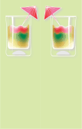 Rainbow Cocktail Green Bookmark