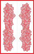 Red Abstract Bookmark