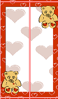 Teddy Heart Bookmark