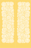 Yellow Circles Bookmark