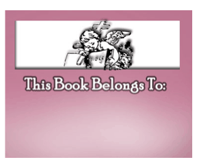 Angel Bible Bookplate bookmark