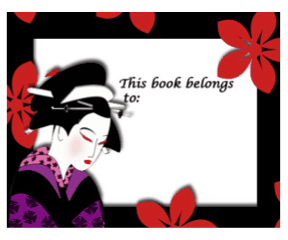 Asian Bookplates bookmark