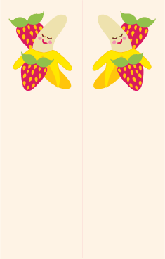 Banana Strawberries White Bookmark bookmark