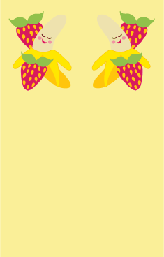 Banana Strawberries Yellow Bookmark bookmark