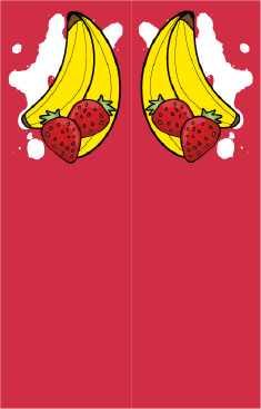 Bananas Strawberries Red Bookmark bookmark