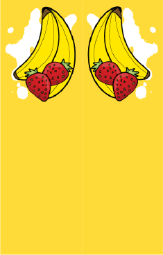 Bananas Strawberries Yellow Bookmark bookmark