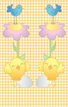 Bird Flower Yellow Gingham Bookmark bookmark