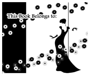 Black And White Romantic Bookplates bookmark