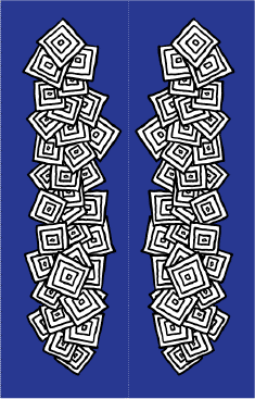 Black White Squares Blue Bookmark bookmark