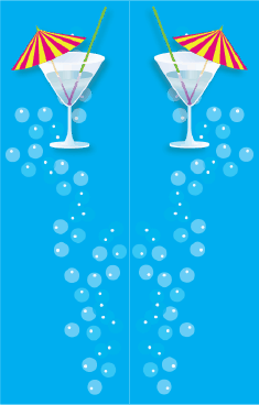Blue Cocktail Umbrella Bookmark bookmark