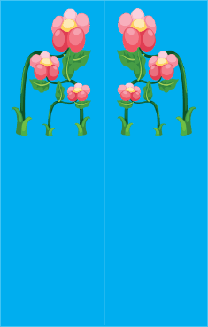 Blue Flowers Bookmark bookmark