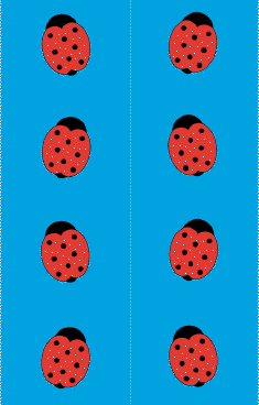 Blue Ladybugs Bookmark bookmark
