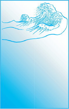 Blue Wave Bookmark bookmark