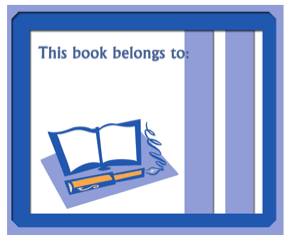 Book And Pen Bookplates bookmark