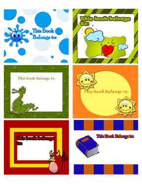 Bright Bookplates Assorted bookmark