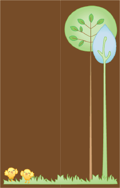 Brown Trees Bookmark bookmark