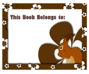 Bunny Rabbit Bookplates bookmark