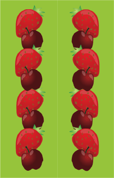 Cherries Strawberries Green Bookmark bookmark