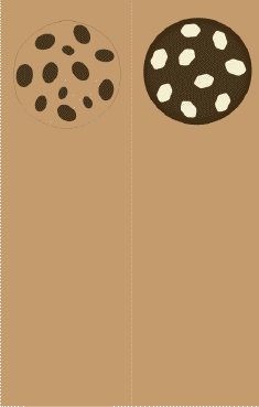 Chocolate Chip Cookies Brown Bookmark bookmark