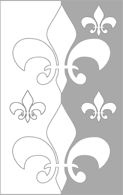 Color Fleur De Lis Bookmark bookmark