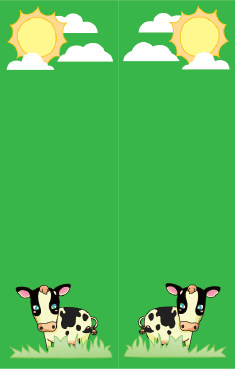Cows Green Bookmark bookmark