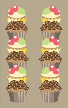 Cupcakes Brown Bookmark bookmark