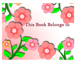 Flower Bookplates bookmark