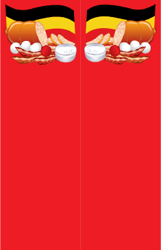Food German Red Bookmark bookmark