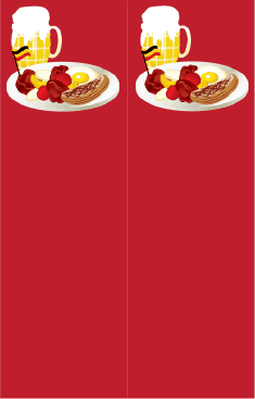 German Food Red Bookmark bookmark