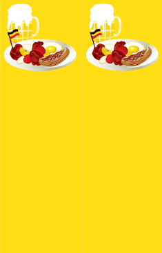 German Food Yellow Bookmark bookmark